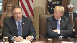 News video: Mike Pompeo Shares North Korea Feedback And More At Cabinet Meeting