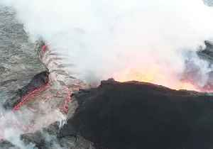 Aerial Footage Captures Lava Erupting From Fissure at Hawaii's Kilauea Volcano [Video]
