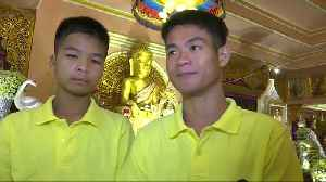 Thai boys return to normal life after rescue [Video]