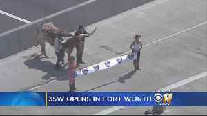 Ribbon Cutting Opens New $1.6 Billion I-35W Project [Video]