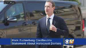 News video: Mark Zuckerberg Clarifies Comments About Holocaust Deniers