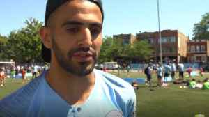 Man City midfielder Mahrez: 'I'm excited to work under Pep' [Video]