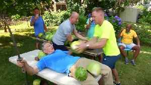 Man Slices Watermelons On Stomach To Set Guinness World Record [Video]