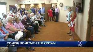 Coming home with the crown: Miss USA spends time at assisted living facility [Video]