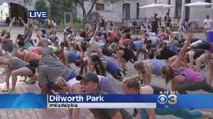 Fit Academy Holds Free Workout In Dilworth Park [Video]