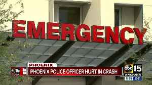 Phoenix officer remains in critical condition following serious crash [Video]