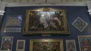 Charles' art collection on display [Video]