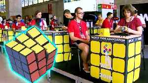 New York Teen Solves Rubik's Cube With Feet at Competition in Madrid [Video]
