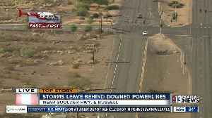 Power poles down on Boulder Highway [Video]