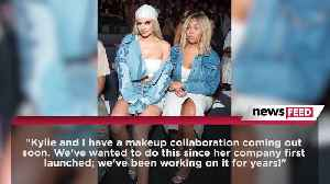 BFFs Kylie Jenner and Jordyn Woods Team Up For a Makeup Collab [Video]
