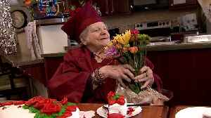 92-Year-Old Woman Receives High School Diploma [Video]
