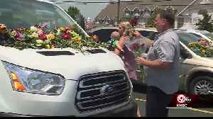 Flowers decorate vehicles belonging to victims of duck boat accident [Video]