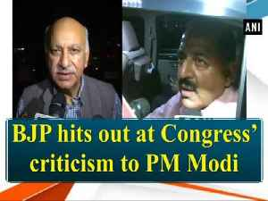 BJP hits out at Congress' criticism to PM Modi [Video]