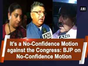 It's a No-Confidence Motion against the Congress: BJP on No-Confidence Motion [Video]