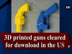 3D printed guns cleared for download in the US [Video]