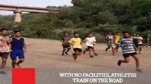 With No Facilities, Athletes Train On The Road [Video]