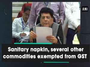 Sanitary napkin along with exempted from GST [Video]