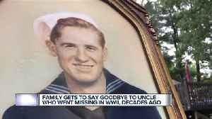 Family gets to say goodbye to uncle who went missing in World War II [Video]