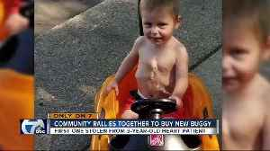 Warren mother thankful community helped replace son's stolen push buggy [Video]