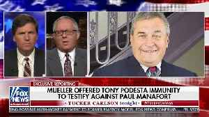 Former rump campaign slams Mueller for granting immunity to Tony Podesta [Video]