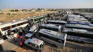 Syrians evacuated from Golan border reach rebel checkpoint in Hama [Video]