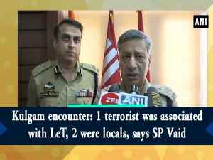 Kulgam encounter: 1 terrorist was associated with LeT, 2 were locals, says SP Vaid [Video]