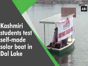 Kashmiri students test self-made solar boat in Dal Lake [Video]