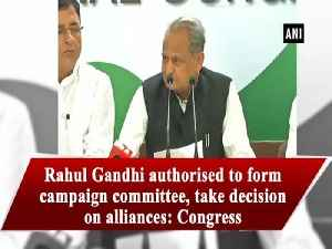 Rahul Gandhi authorised to form campaign committee, take decision on alliances: Congress [Video]