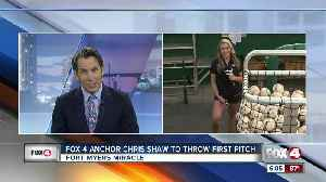 Fox 4 anchors Dani Beckstorm and Chris Shaw throw out the first pitch [Video]