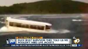 Duck boat survivor: they told us we wouldn't need life jackets [Video]
