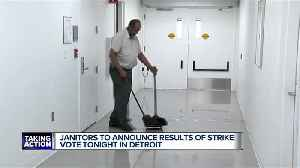 Janitors to announce results of strike vote [Video]