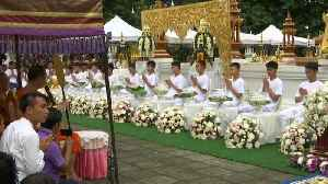 Thai cave boys take part in Buddhist ordination ceremony [Video]