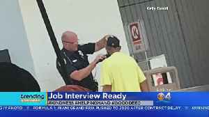 Florida Officer Helps Homeless Man Shave For Job Interview, Video Goes Viral [Video]