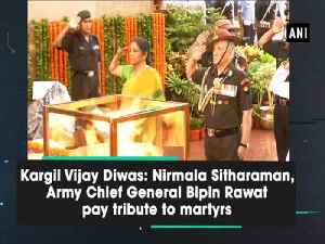 Kargil Vijay Diwas: Nirmala Sitharaman, Army Chief General Bipin Rawat pay tribute to martyrs [Video]