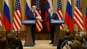 Soccer Ball Given to Trump by Vladimir Putin Has Electronic Chip Inside [Video]