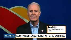 Southwest CEO Kelly Says Growth Slower on Fuel Costs [Video]