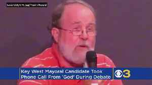 Mayoral Candidate Takes Phone Call From 'God' During Live Debate [Video]