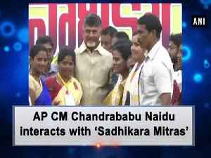 AP CM Chandrababu Naidu interacts with 'Sadhikara Mitras' [Video]