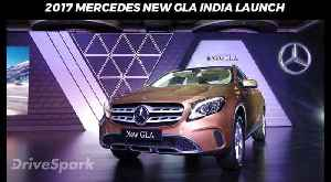 2017 Mercedes New GLA India Launch - DriveSpark [Video]