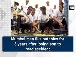Mumbai man fills potholes for 3 years after losing son to road accident [Video]