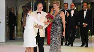 Princess Charlene Makes an Elegant Entrance in Glittering Gown at Monaco's Red Cross Ball Gala [Video]