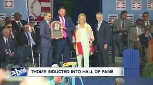Jim Thome officially inducted into Baseball HOF [Video]