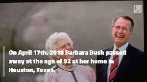 George H.W. Bush Posts Heartfelt Tribute to Late-Wife Barbara Bush On Her Birthday [Video]