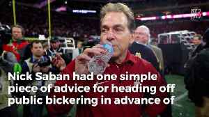 Nick Saban Warns QB's - Don't Bring Attention To Yourself [Video]