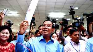 Cambodia ruling party claims election victory in largely unopposed poll [Video]