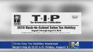 Tax 'Holiday' This Weekend For Back-To-School Shoppers [Video]