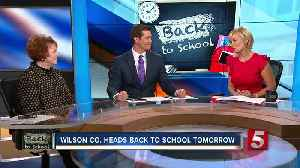 Wilson County Heads Back To School Wednesday [Video]