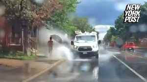 Driver fired after being filmed purposely splashing pedestrians [Video]