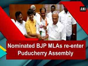 Nominated BJP MLAs re-enter Puducherry Assembly [Video]