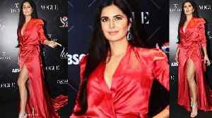 Katrina Kaif sizzles at VOUGE Beauty Awards red carpet in Red gown Watch  Video। b5dc55bdd